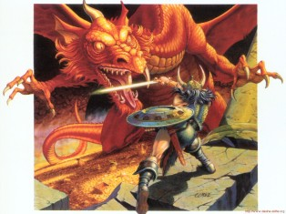 dragon and warrior